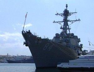 эсминец ВМС ВС США заешл в Севастополь