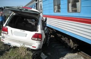тойота врезалась в поезд севастополь - москва