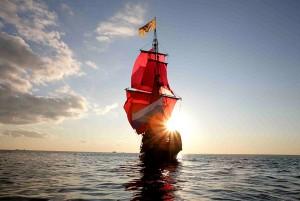 семья построила яхту с алыми парусами