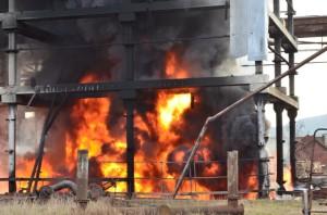 пожар в Инкермане