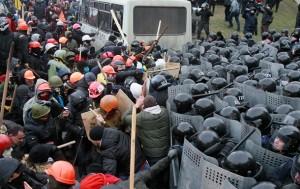 разгон протестующих в Киеве