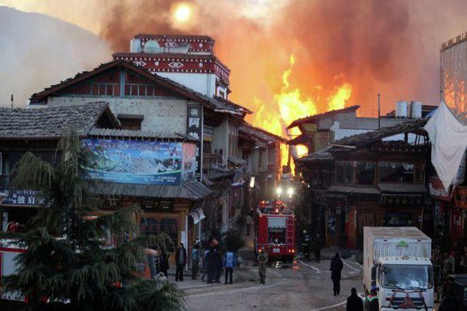 Древний тибетский город сгорел