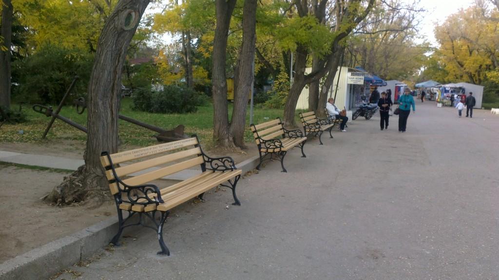 скамейки Севастополю от городов России