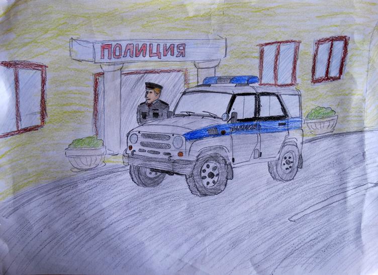 Профессия милиция рисунок, тему доброго