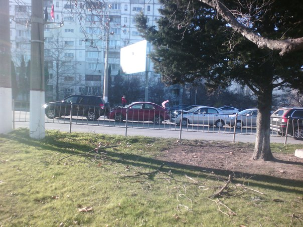 ДТП в Севастополе с участием четырех автомобилей