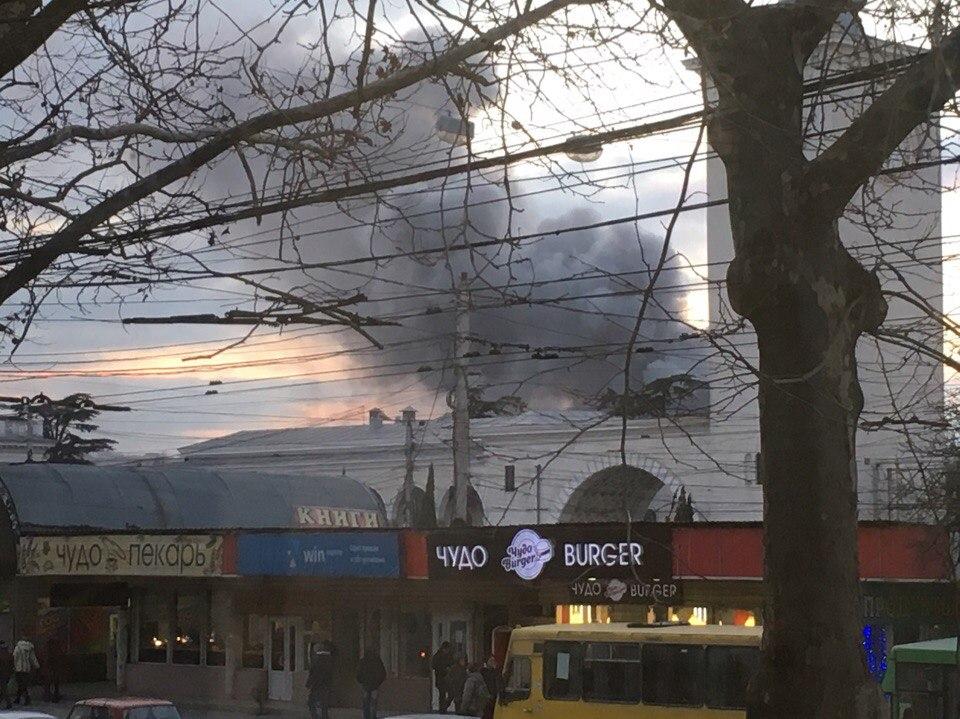 В Симферополе тушили крупный пожар: ж\д вокзал накрыло дымом (ФОТО, ВИДЕО)