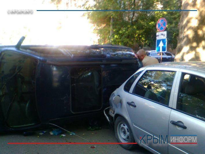 В историческом центре Симферополя произошло ДТП с участием шести автомобилей (ФОТО)