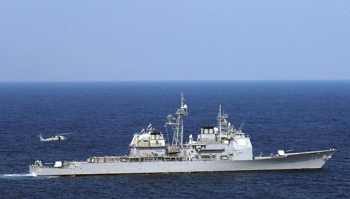 """Американский ракетный крейсер """"Хью Сити"""" вышел из Черного моря"""