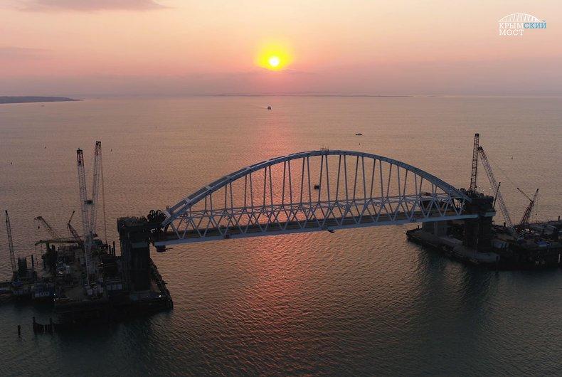 Крымский мост готов более чем на 50%, - Федеральное дорожное агентство