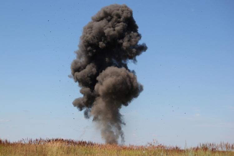 В Крыму у озера Чокрак нашли 50-килограммовую бомбу