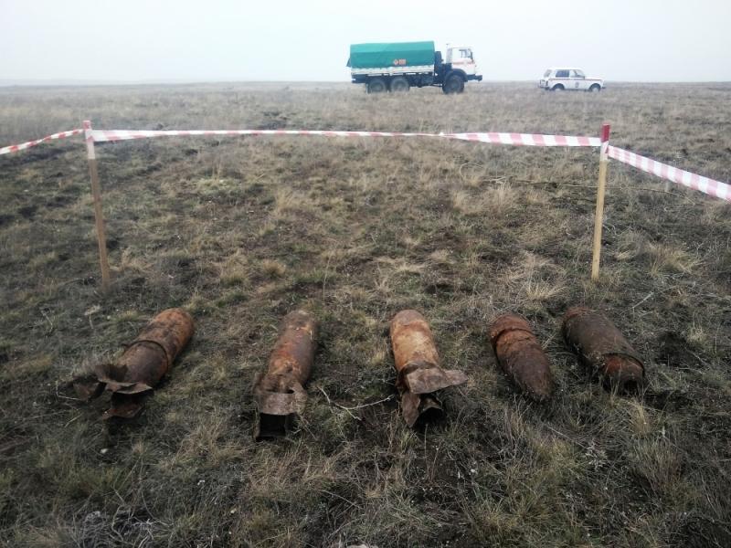 В Крыму обезвредили шесть авиационных бомб (ФОТО)
