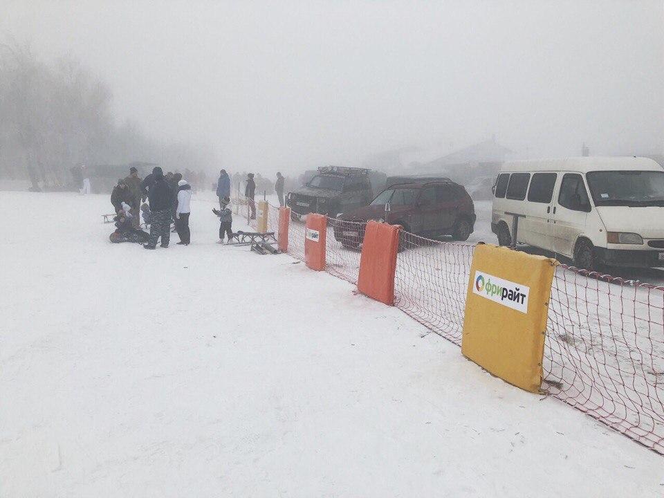 На Ай-Петри обустроили горку для начинающих лыжников и сноубордистов (ФОТО)