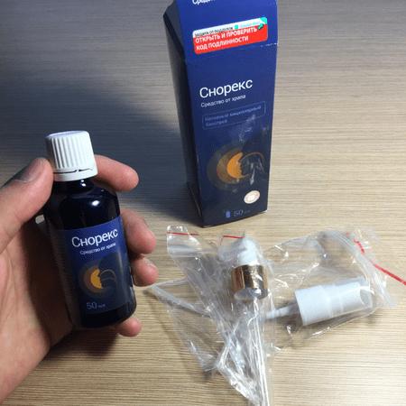 Эффективное средство от храпа - спрей Снорекс